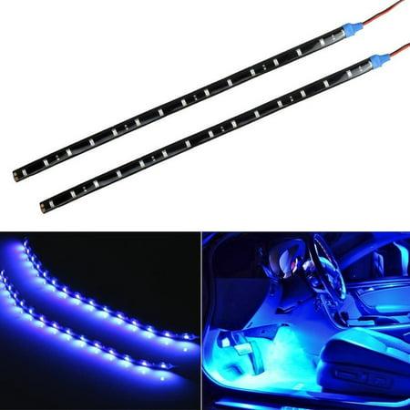 4 X 30cm 12V Universal Flexible LED Turn Signal Lights Tail Brake License Plate Lights Integrated for Motorcycle Bike ATV Car RV SUV, Brake/Running Tail Light, Blue (Lights That Turn On In Your Car)