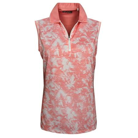 - callaway golf- ladies sleeveless print polo
