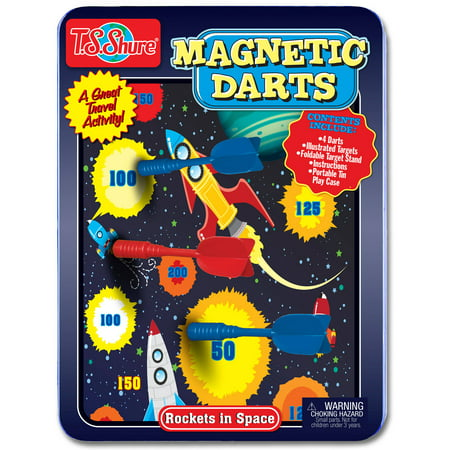 T.S. Shure Rockets in Space Magnetic Dart Game Tin (Magnetic Darts)