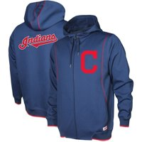 Cleveland Indians Stitches Logo Full-Zip Hoodie - Navy