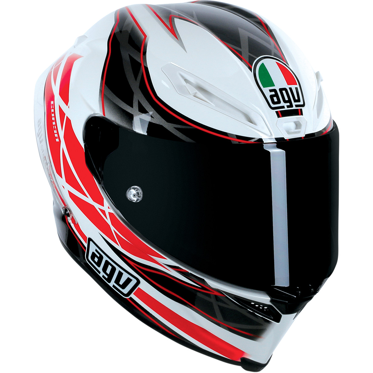 AGV Corsa 5Hundred (500) Motorcycle Race Helmet White/Black/Red