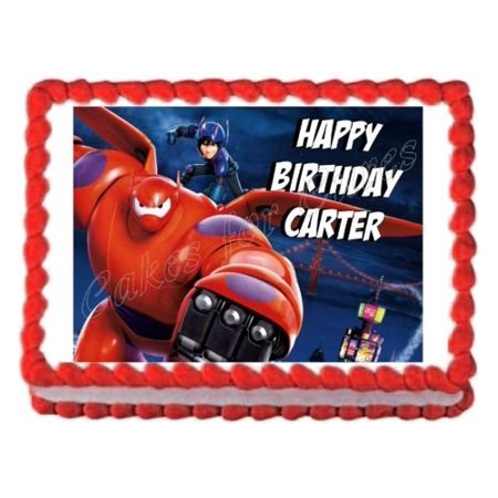 BIG HERO 6 Edible Frosting Image Cake Topper 1 4 Sheet