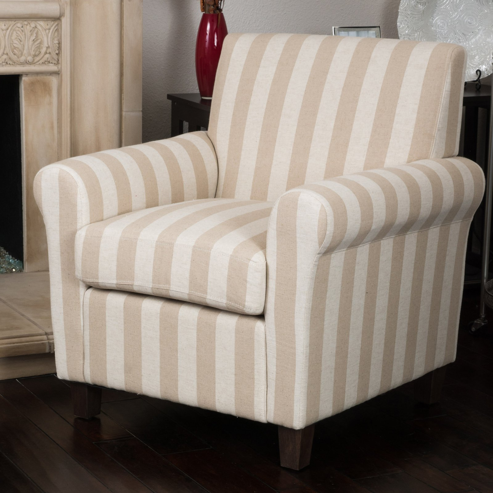 Best Selling Home Brunswick Striped Club Chair by Overstock