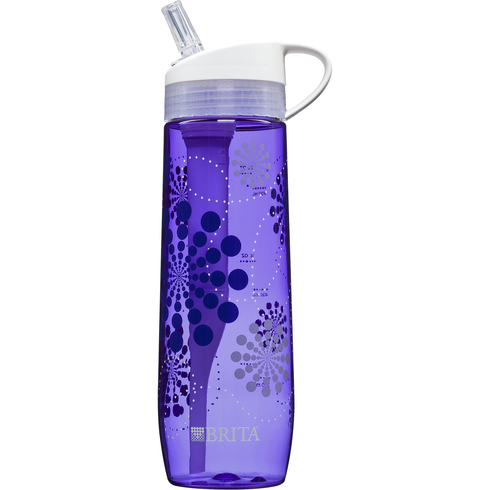 Brita Hard Sided Water Filter Bottle, Violet, 23.7 oz by The Clorox Company