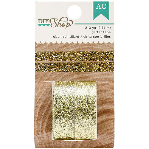 DIY Shop 2 Decorative Tape, 2pk, Gold Glitter