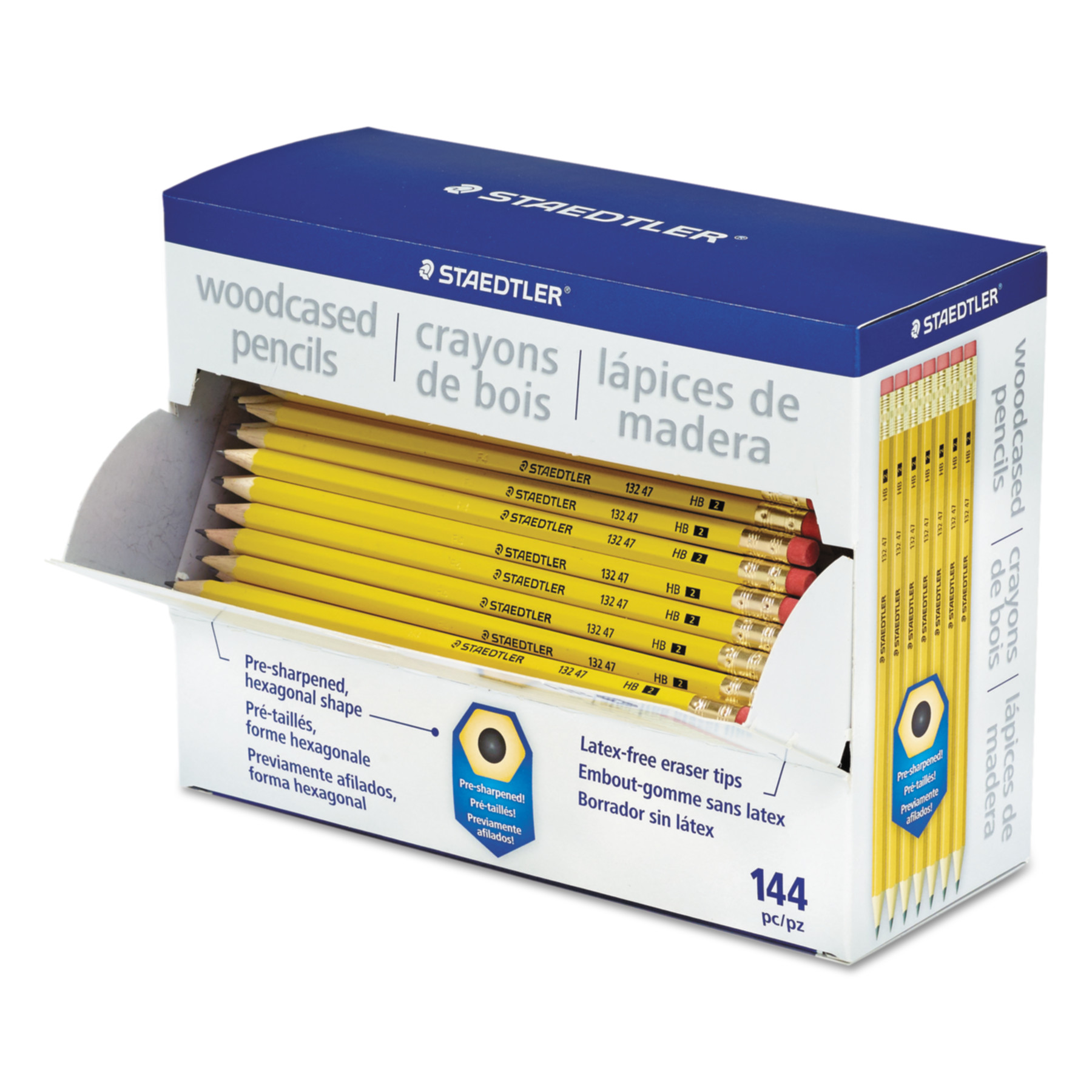 Staedtler Woodcase Pencil, Graphite Lead, #2 HB, Yellow, 144-Count