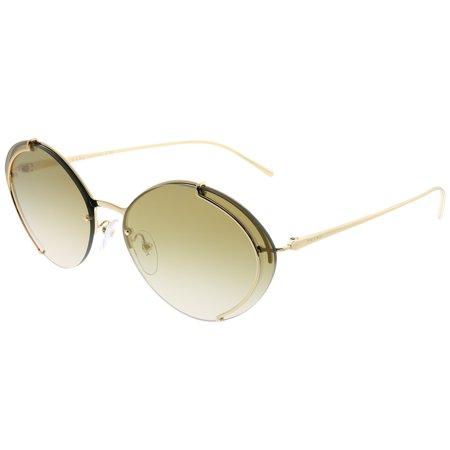 Prada  PR 60US 5AK2G2 Womens  Oval (Prada Sunglasses Gold Frame)