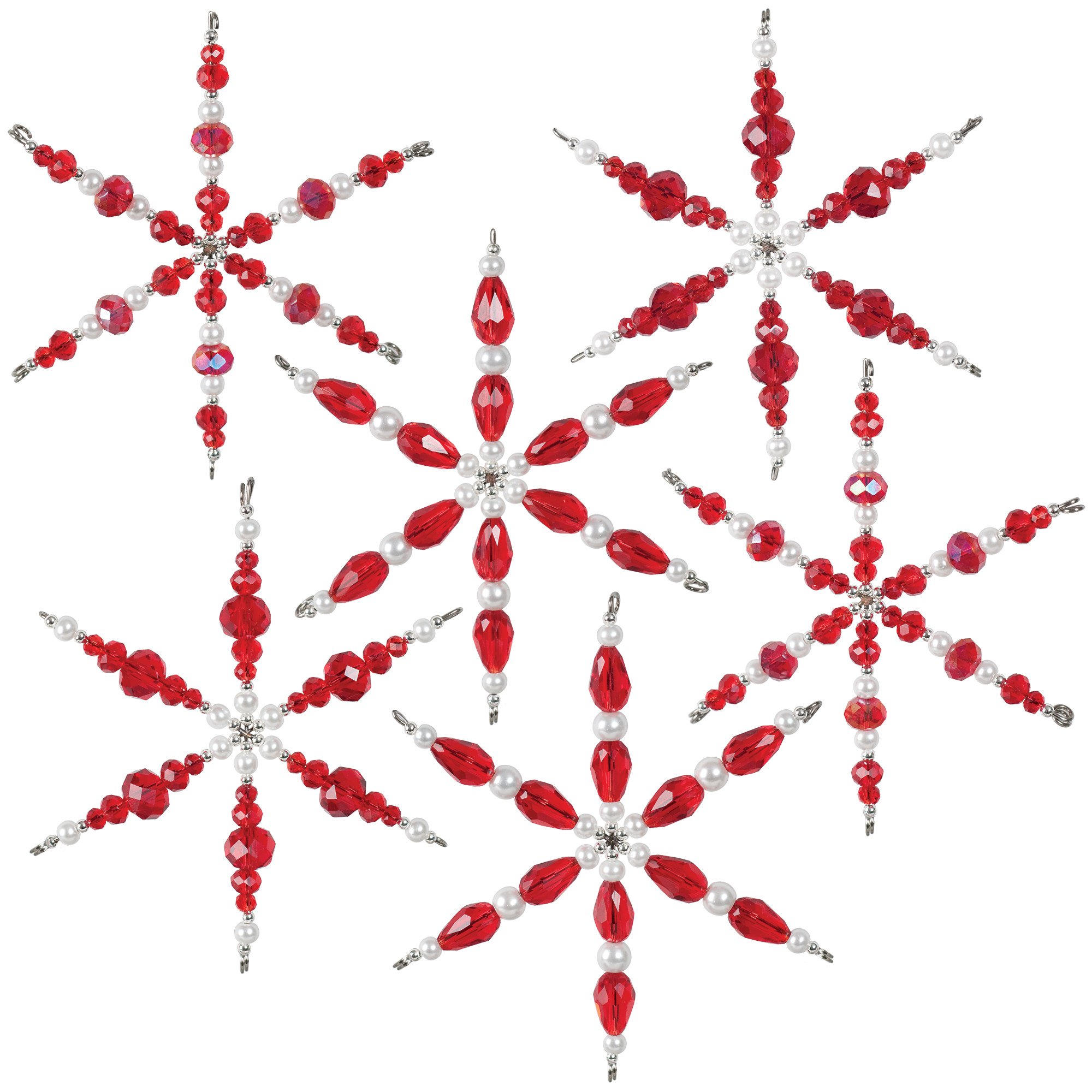 Nostalgic Christmas™ Beaded Crystal Ornaments Kit - Ruby Snowflakes