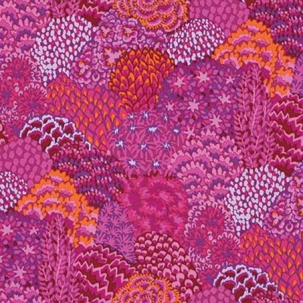 Free Spirit Fabrics Kaffe Fassett Oriental Trees Magenta