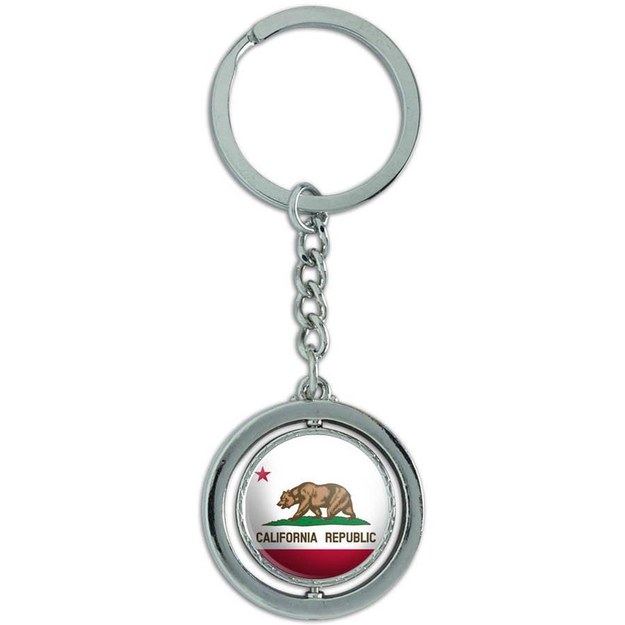 California Republic State Flag Keychain Key Ring
