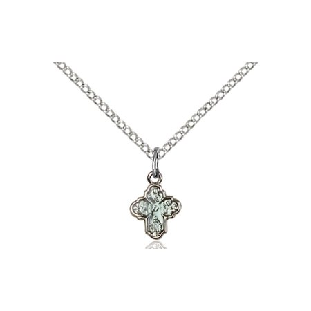 Solid 925 Sterling Silver With Miraculous Virgin Mary Sacred Heart Of Jesus Saint Joseph Saint Christopher 3 8 X 1 4  Medal Pendant On A 18 Sterling Silver Curb Chain Necklace Gift Boxed
