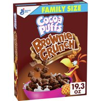 Cocoa Puffs Brownie Crunch Cereal, Family Size, 19.3 oz