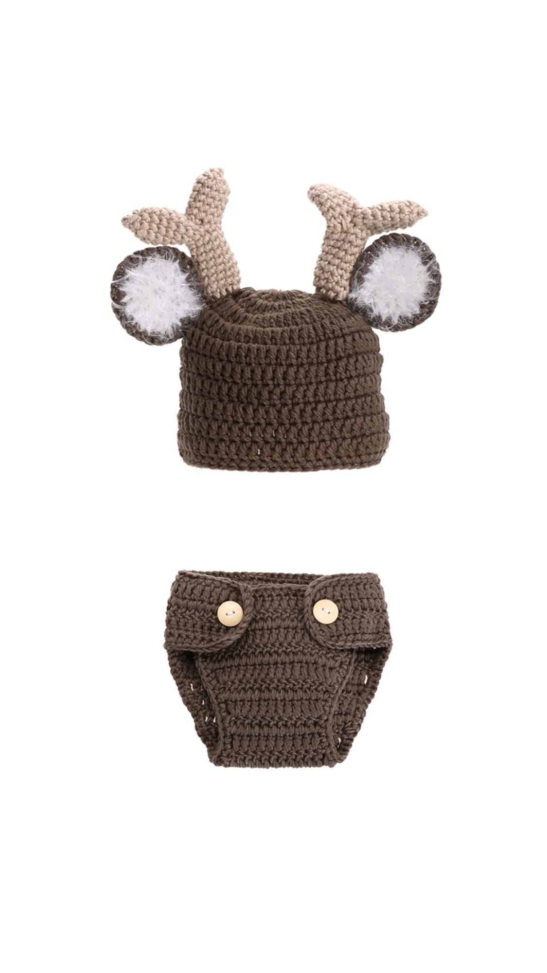 Newborn Baby Girls Boys Crochet Knit Costume Photography Props