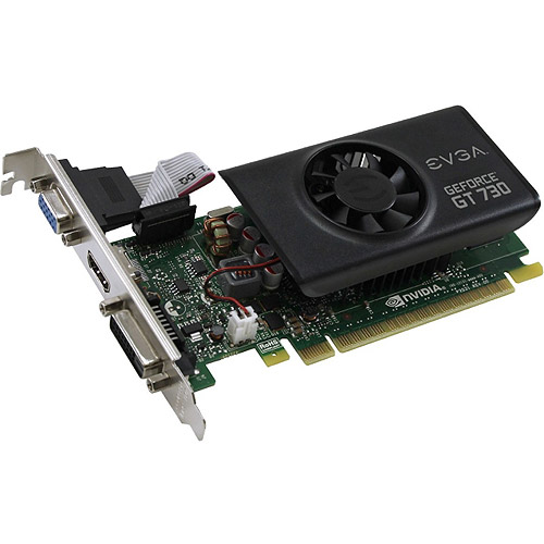 EVGA NVIDIA GeForce GT 730 2GB GDDR5 LP Graphics Card