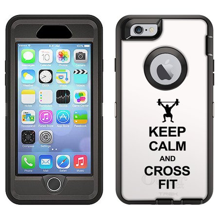 Skin Decal For Otterbox Defender Apple Iphone 6 Plus Case   Keep Calm And Cross Fit On White