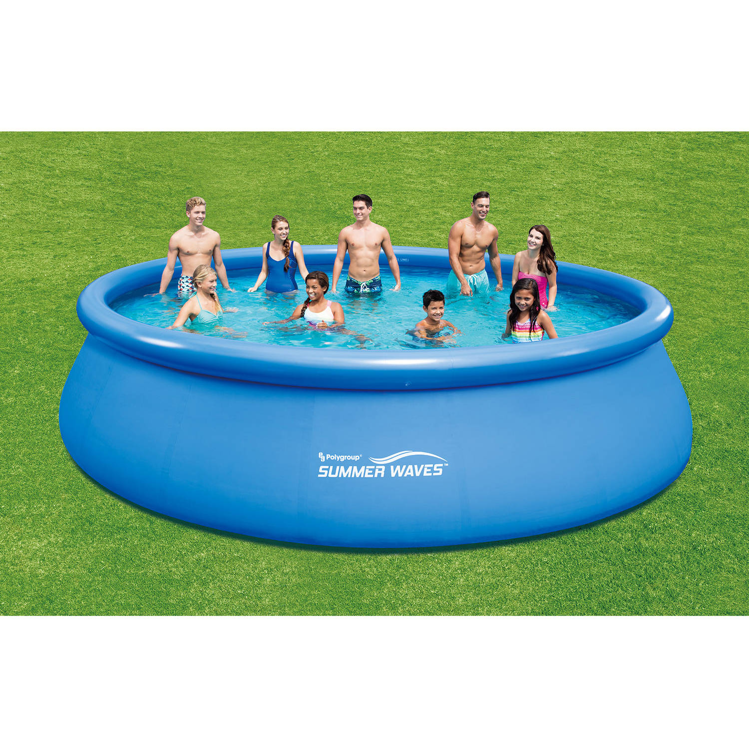 Summer Waves 18 X 48 Quick Set Round Above Ground Swimming Pool With Deluxe Accessory