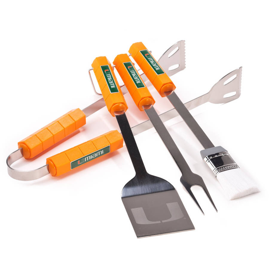Miami Hurricanes 4-Piece BBQ Set