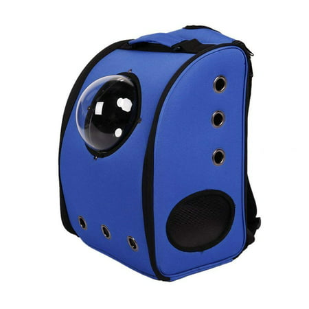 KARMAS PRODUCT Detachable Pet Traveler Bubble Backpack Dog Cat Carriers with Semi-sphere Window and Ventilation Holes Outdoor for Travelling and Hiking