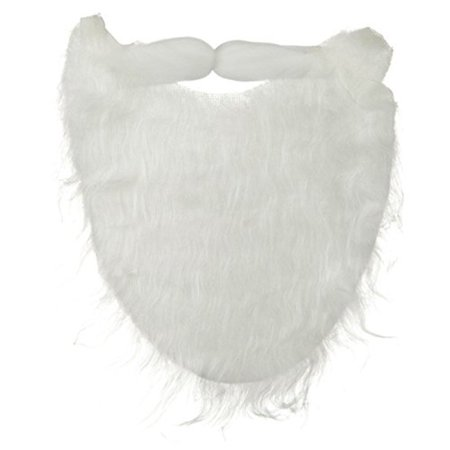 White Santa Christmas Uncle Sam Fake Fur Beard & Mustache Costume Accessory (Fake Beards And Mustaches)