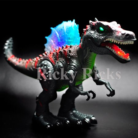 Walking Dinosaur Spinosaurus Kids Light Up Toy Figure Sounds Real Movement LED - Light Up Dinosaur Toy