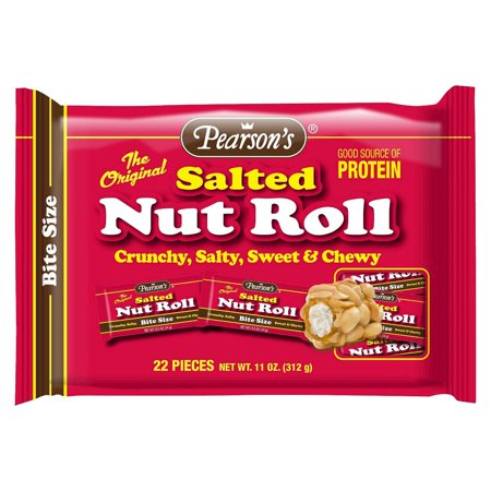 Rohl Nuts - s Salted Nut Roll Bite Size 22 Pieces 11oz. Pearson