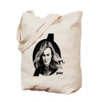 CafePress - Captain Marvel - Natural Canvas Tote Bag, Cloth Shopping Bag
