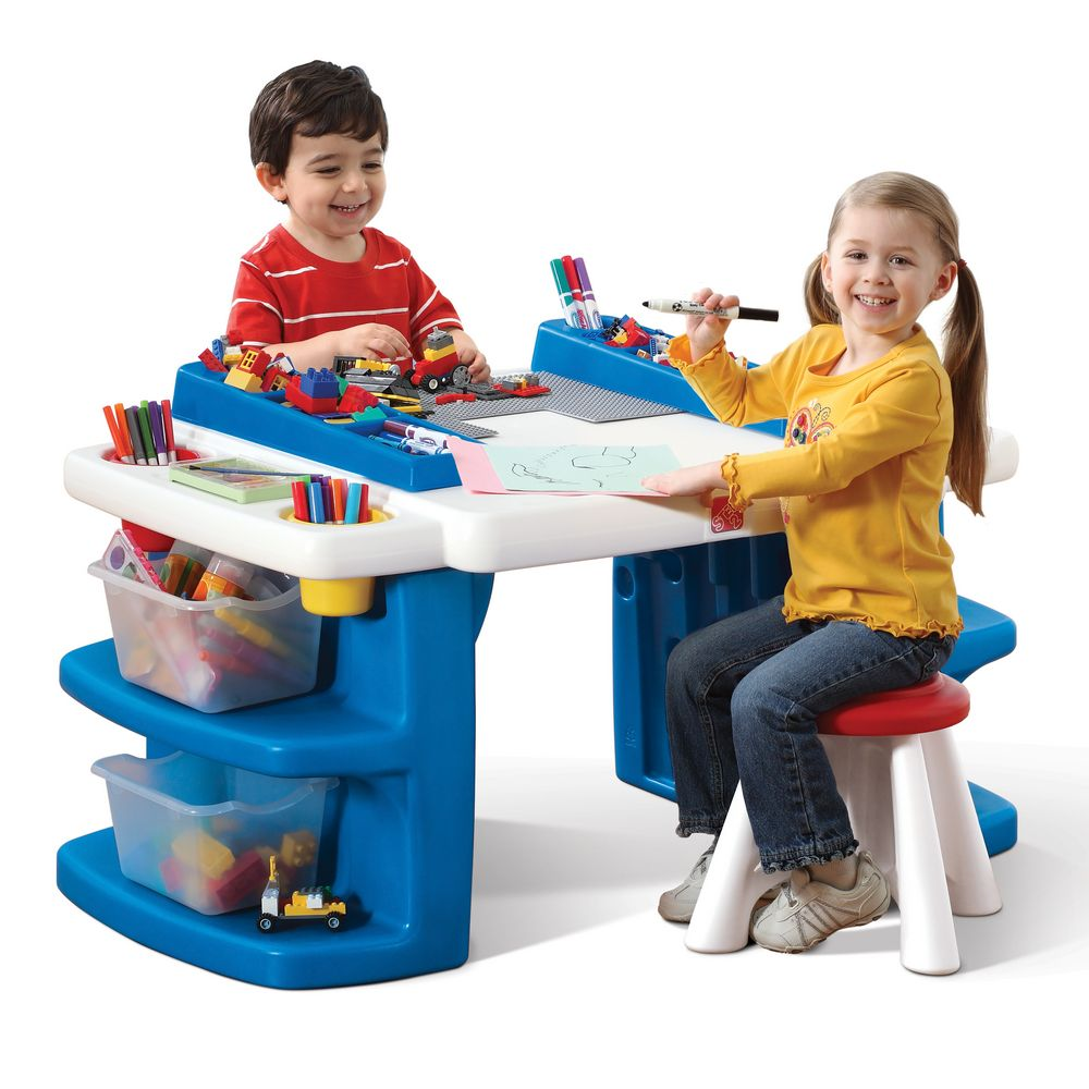 Toddler Activity Desk Pretend Play Table Children Art Kids Building