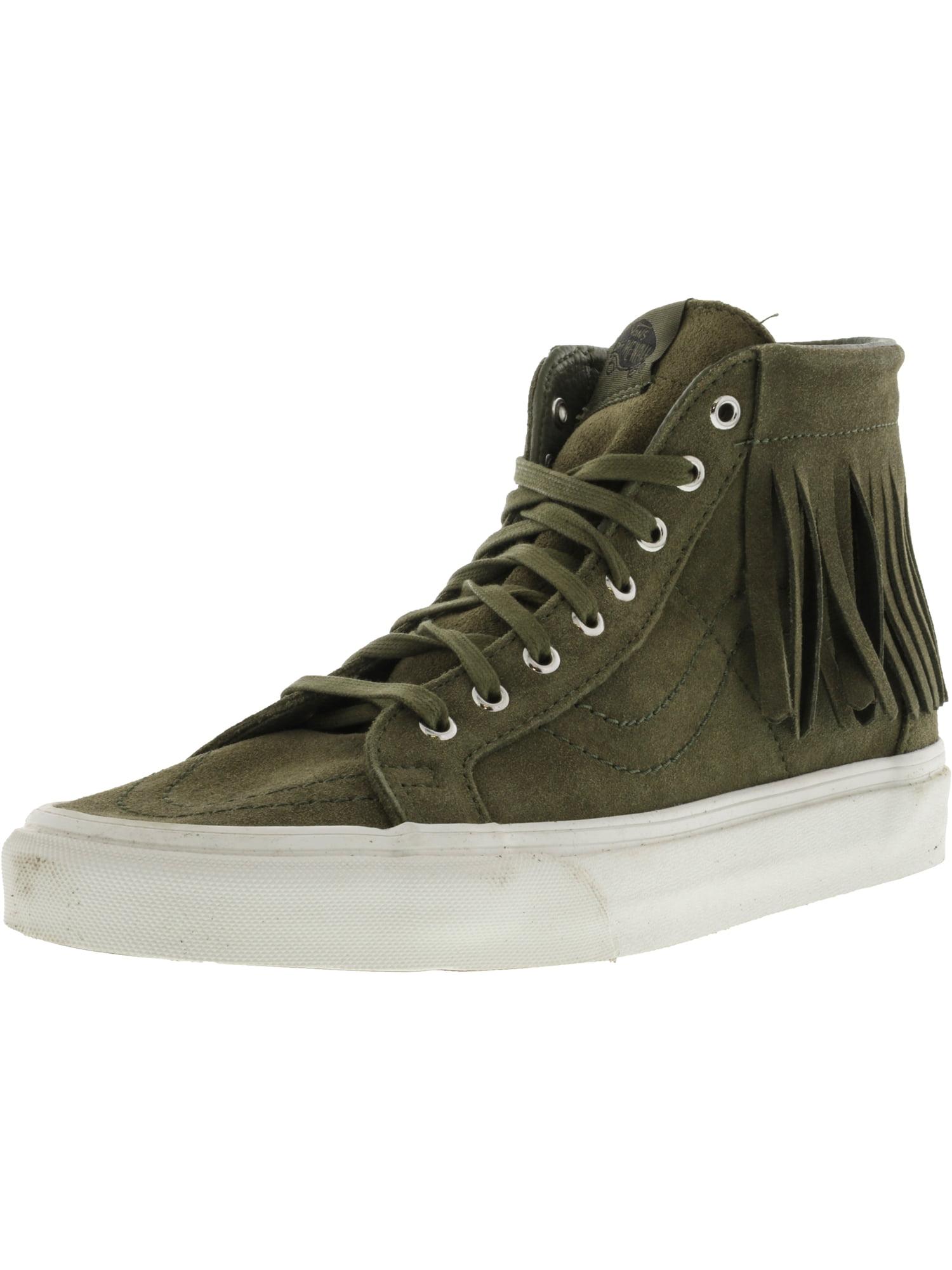 Vans Sk8-Hi Moc Suede Ivy Green / Blanc De Ankle-High Fashion Sneaker - 9M 7.5M