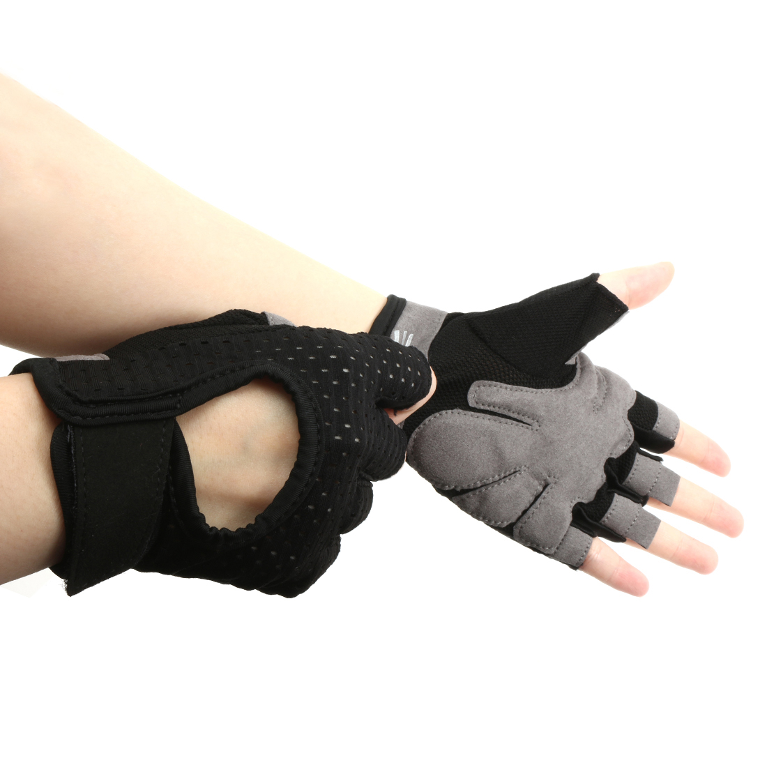 Fashion Lightweight Cycling Bike Gloves Outdoor Anti-slip Black