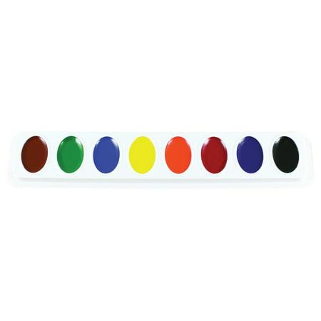 Jumbo Watercolor Set - Sargent Art Art-Time Semi-Moist Standard Watercolor Paint Refill Set, Assorted Bright Color, 8 Pans