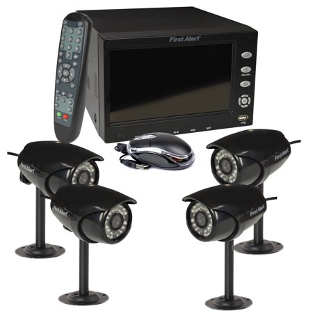 First Alert 4 Ch DVR Security System w/ 7