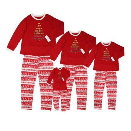 EFINNY - EFINNY 2 Pcs Family Matching Christmas Pajamas Clothes Sleepwear  Mom Dad Deer Striped Pajamas Sets Asian Size - Walmart.com dbc7c538c