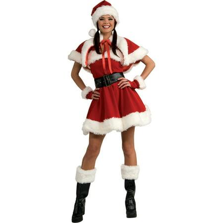 Sassy Miss Santa Adult Costume (Miss Santa Outfits)