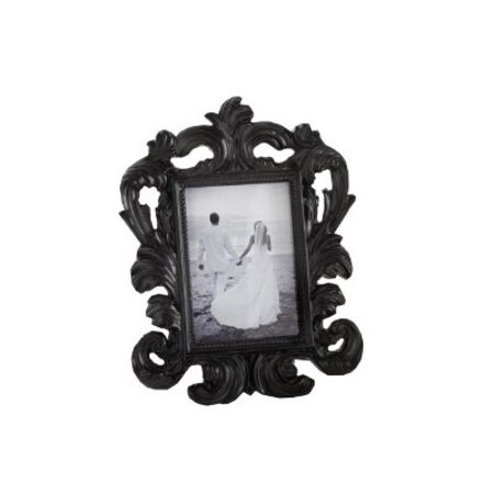 Black Baroque Elegant Place Card Holder/Photo Frame