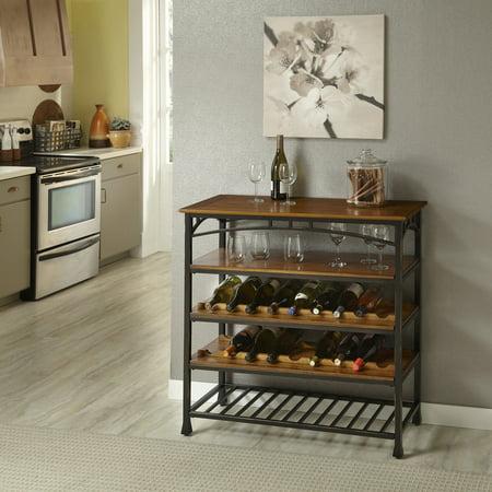 Home styles furniture 5050 66 modern craftsman wine rack for Home styles furniture walmart