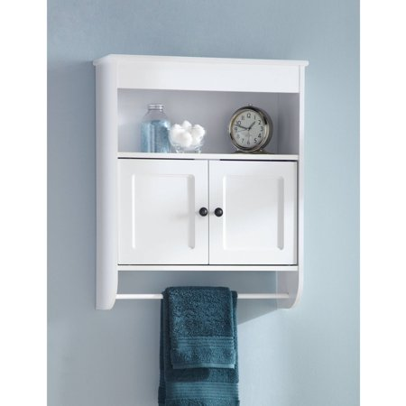 hawthorne place wood wall cabinet, white - walmart