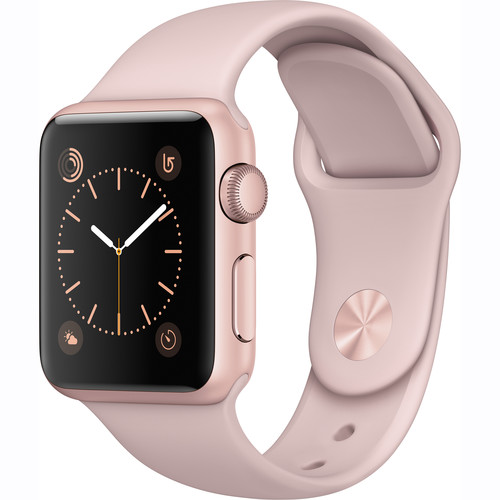 ***FAST TRACK***(ERC) Refurbished Apple Watch Gen 2 Series 1 38mm Rose Gold/ Pink Sand Sport Band