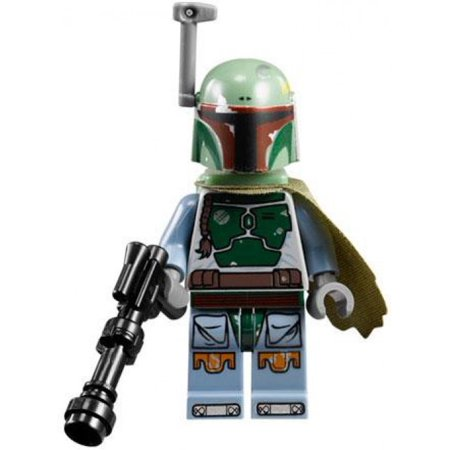 LEGO Star Wars Boba Fett Minifigure [Blue] [No Packaging] (Lego Star Wars Keychain Boba Fett)