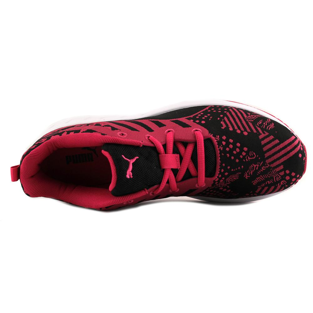 Puma Flare Woven Women  Round Toe Canvas Red Sneakers