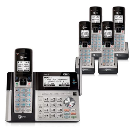 AT&T TL96273 + TL90073 (3) 5 Handset Bluetooth Compatible Cordless Phone w/ Digital Answering System