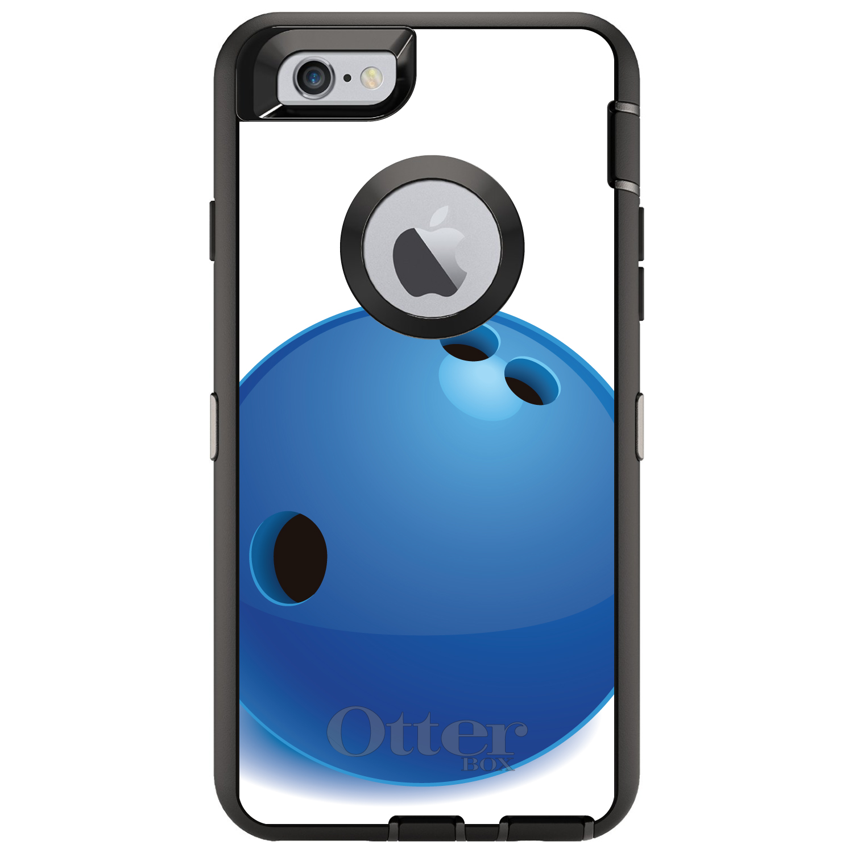 CUSTOM Black OtterBox Defender Series Case for Apple iPho...