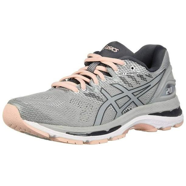 Asics T850N-9696: Womens Gel-Nimbus 20 Mid Grey/Mid Grey/Pink Running  Sneakers