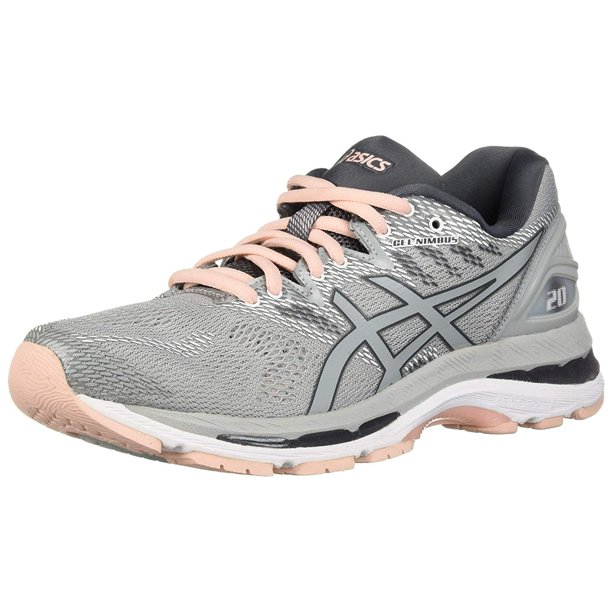 Asics T850N-9696: Womens Gel-Nimbus 20 Mid Grey/Mid Grey/Pink Running  Sneakers (5.5 B(M) US Women)
