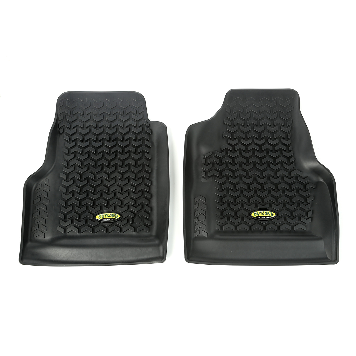 Outland 398298723 Black Front and Rear Floor Liner Kit For Select Ford F-150 Models