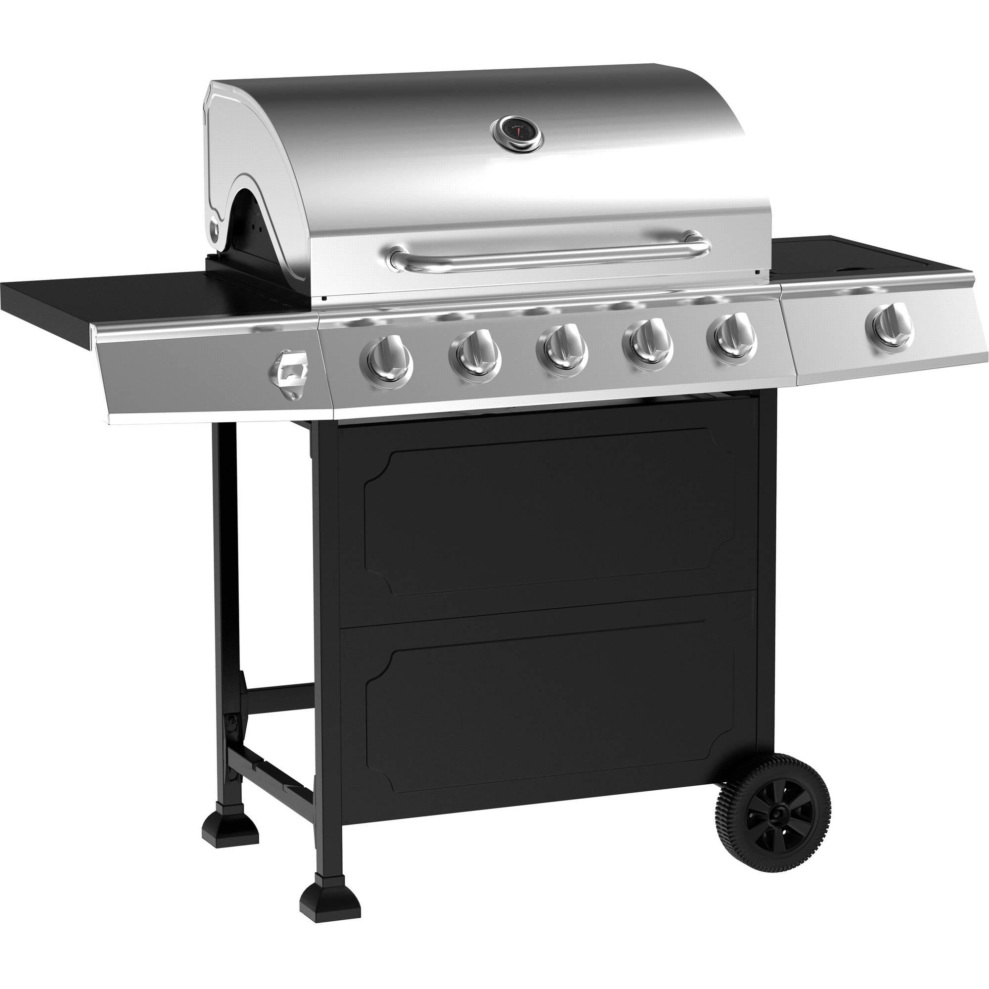 5 burner gas grill stainless steel black outodoor cooking bbq ebay. Black Bedroom Furniture Sets. Home Design Ideas
