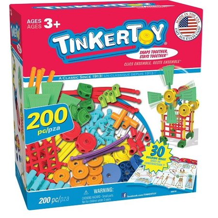 - TINKERTOY 30 Model Super Building Set – 200 Pieces – For Ages 3+ Preschool Educational Toy