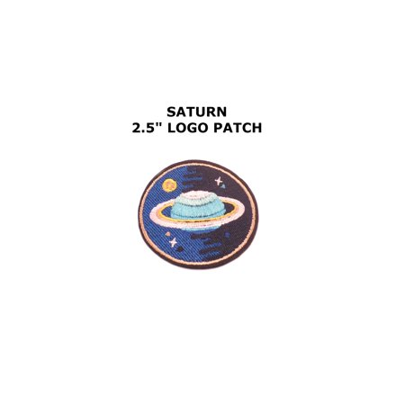 1 X NASA Logos Iron on Patches Saturn Planet By Superheroes - Vector Costume