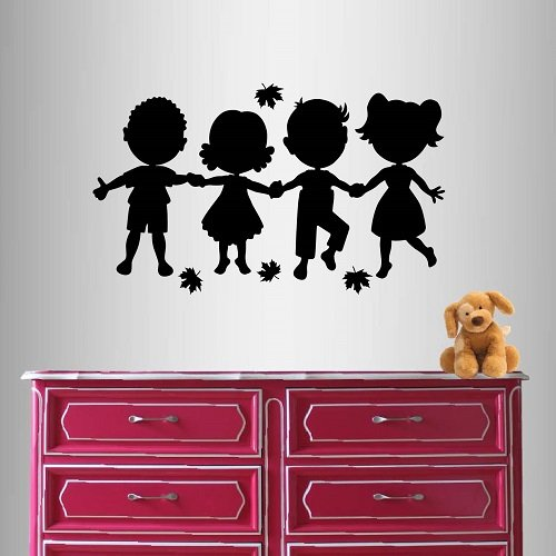 Zoomie Kids Cute Little Kids Holding Hands Nursery Bedroom Play Room Removable Stylish Wall Decals