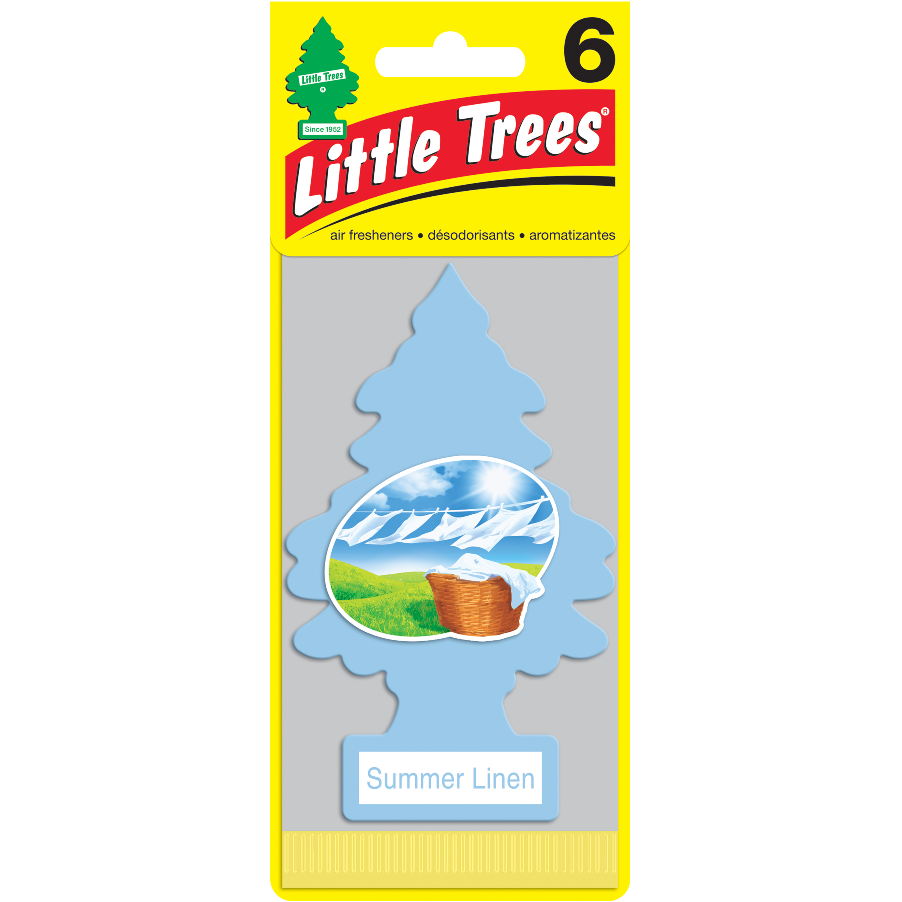 LITTLE TREES air freshener Summer Linen 6-Pack