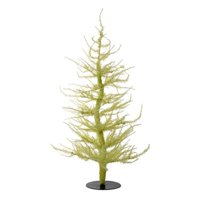 """Whimsical Yellow Laser Artificial Christmas Tree 24"""""""